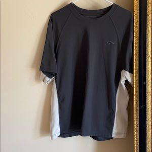CHAMPION grey two toned shirt SIZE: L